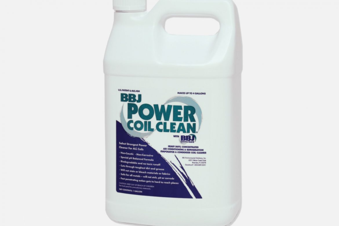 1 GALLON OF BBJ POWER COIL CLEANER CONCENTRATE (MAKES 4 GALLONS)