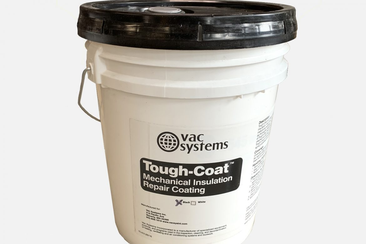 5 GALLON, TOUGH COAT ALL PURPOSE HVAC COATING  – BLACK