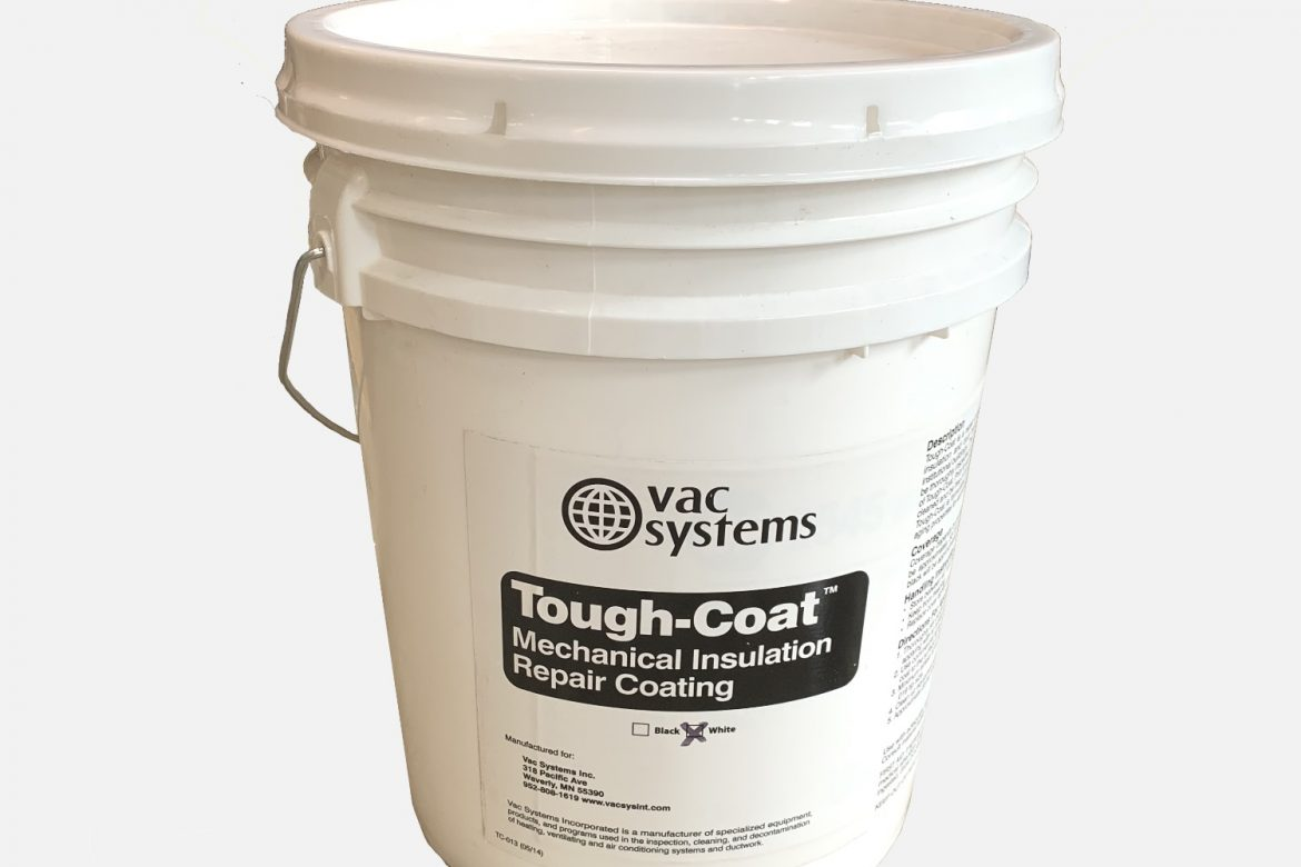 5 GALLON, TOUGH COAT ALL PURPOSE HVAC COATING  – WHITE