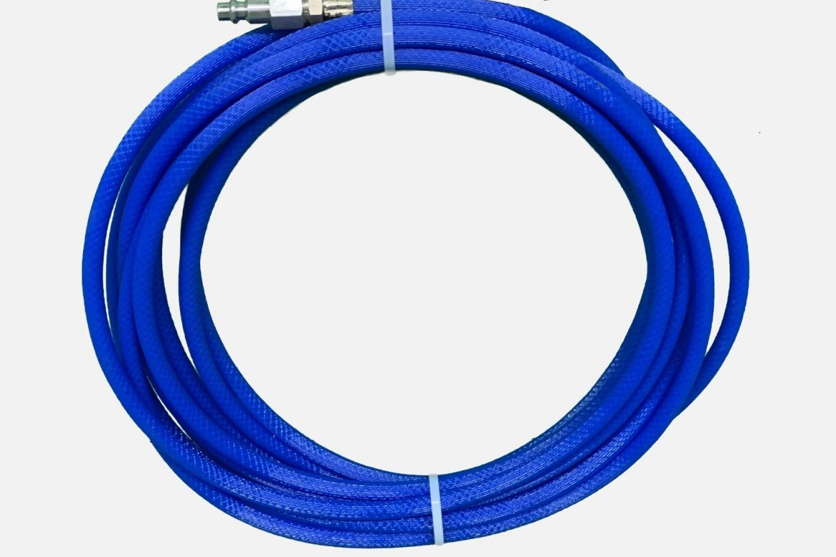 30 FT BLUE HOSE WITH REVERSE SKIPPER NOZZLE
