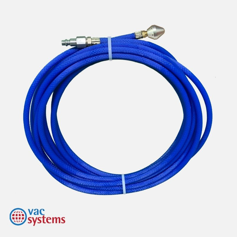 25 Ft Blue Hose With Reverse Skipper Nozzle Vac Systems