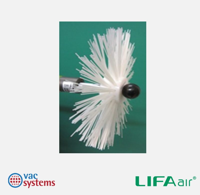 LIFA - AGGRESSIVE NYLON (1MM STIFF BRISTLE) BRUSH WITH NYLON CENTER - 12 IN (300 MM)
