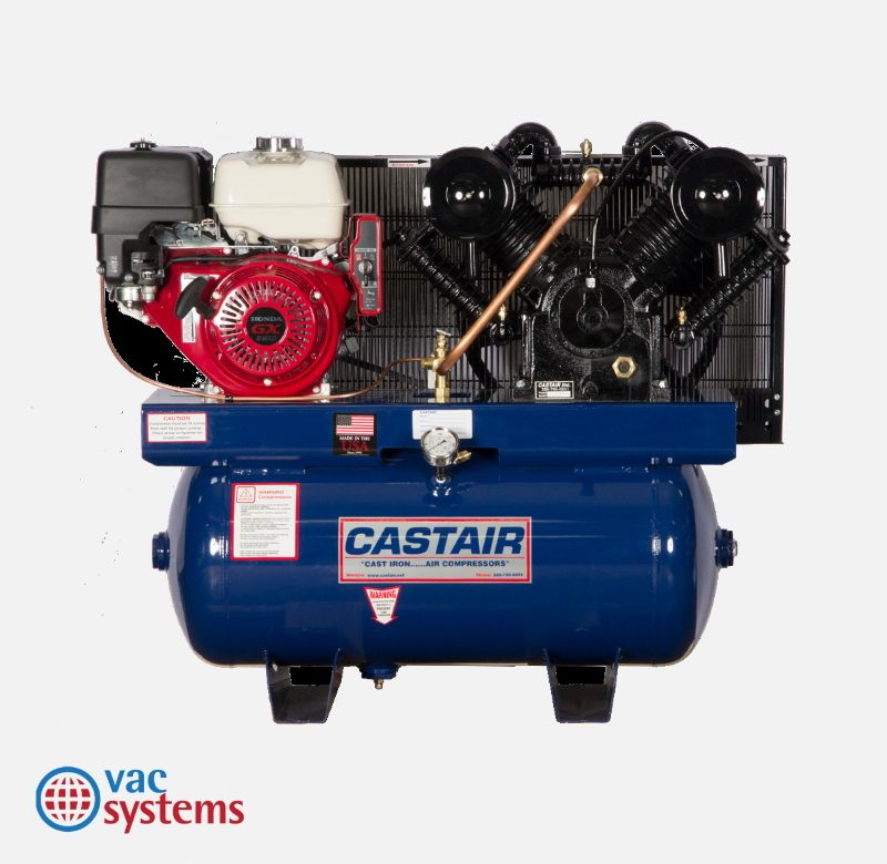 C13 AIR COMPRESSOR (GAS POWERED), 13 HP, 30 GAL